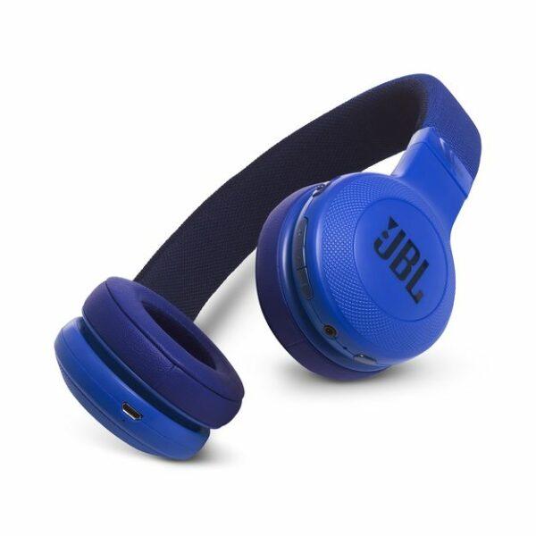 JBL E45BT Wireless On Ear Headphones Blue