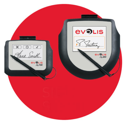 Evolis signature pads