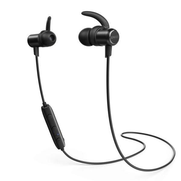 anker soundbuds slim bluetooth headphones black intercomp malta. Black Bedroom Furniture Sets. Home Design Ideas