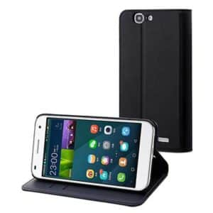Black Slim S Folio Stand Case 3 Card Slots Huawei Ascend G7