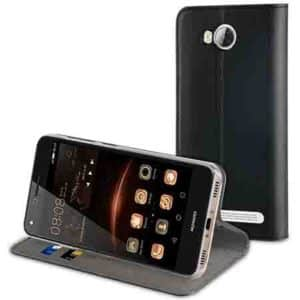 Muvit Case Black Folio Stand For Huawei Y3 Ii