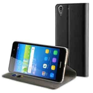 Muvit Case Black Folio Stand For Huawei Y6 Ii