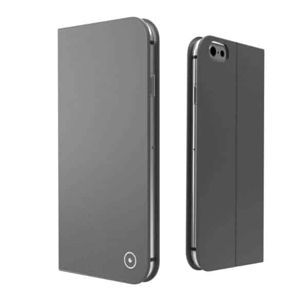 Muvit Leather Grey Folio Fit For Apple Iphone 7 7s