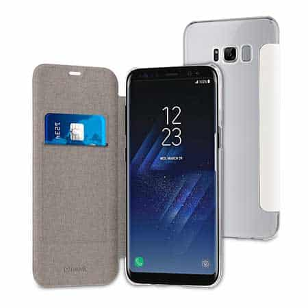 huge selection of 0792c ee2f3 Muvit White Folio Case Case For Samsung Galaxy S8 Plus