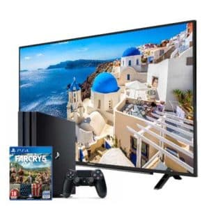 "Sony Playstation 4 Pro 1TB with Game + Grundig 4K 40"" TV"