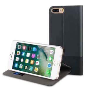Muvit Folio Stand Black For Apple iPhone 7+, 8+