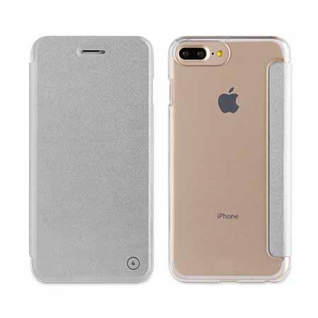 Muvit Silver Folio Case For Apple Iphone 7,8 Plus ,6+