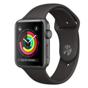 Apple Watch Series 3 38mm Space Grey Aluminium Case with Grey Sport Band