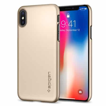 Spigen iPhone X Case Thin Fit Blush Gold