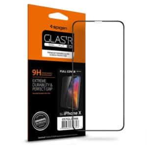 Spigen iPhone X Glass FULL COVER Black (1Pack)