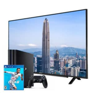 Sony Playstation 4 Pro 1TB with Game + Grundig 4K 55″ TV