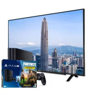 "Sony Playstation 4 Pro 1TB Fortnite Bundle + Grundig 4K 55"" TV"