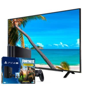 "Sony Playstation 4 Pro 1TB Fortnite Bundle + Grundig 4K 49"" TV"