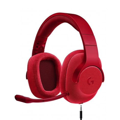 Logitech 433 7.1 Surround Gaming Headset - Fire Red