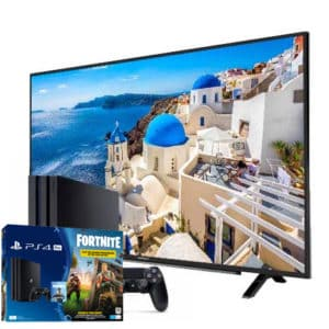 Sony Playstation 4 Pro 1TB Ps4 Fortnite Bundle + Grundig 4K 40″ TV