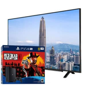 "Sony Playstation 4 Pro 4K 1TB Red Dead Redemption Bundle + Grundig 4K 55"" TV"
