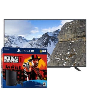 Sony Playstation 4 Pro 4K 1TB Red Dead Redemption Bundle + Grundig 4K Smart TV 40″