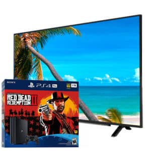 Sony Playstation 4 Pro 4K 1TB Red Dead Redemption Bundle + Grundig 4K Smart TV 49″