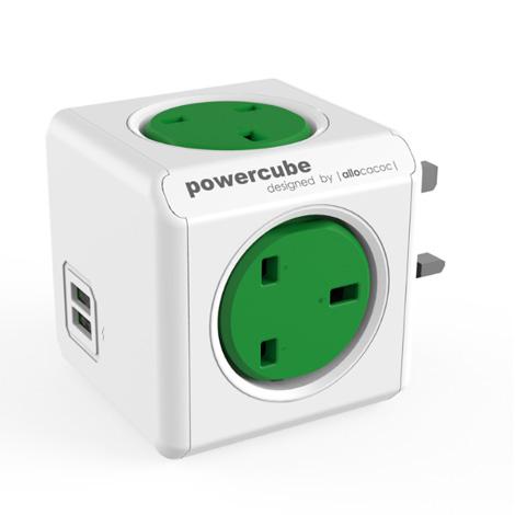 Allocacoc Powercube USB Green