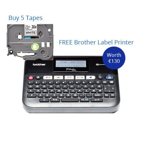 Buy 5 Tapes & Get A Free Brother Label Printer
