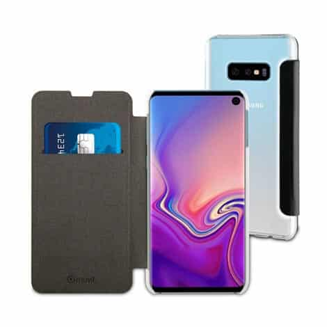MUVIT Folio Case Black Samsung Galaxy S10+