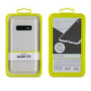 MUVIT Transparent Soft Case Samsung Galaxy S10