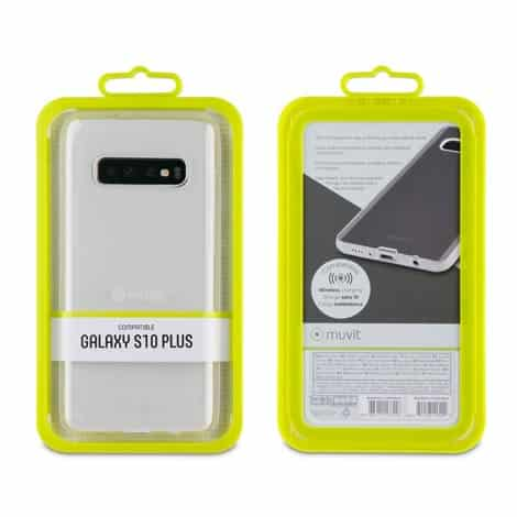 MUVIT Transparent Soft Case Samsung Galaxy S10+