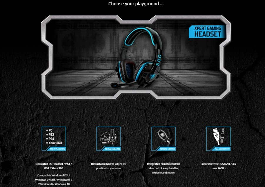 SOG Xpert H2 Gaming Headset
