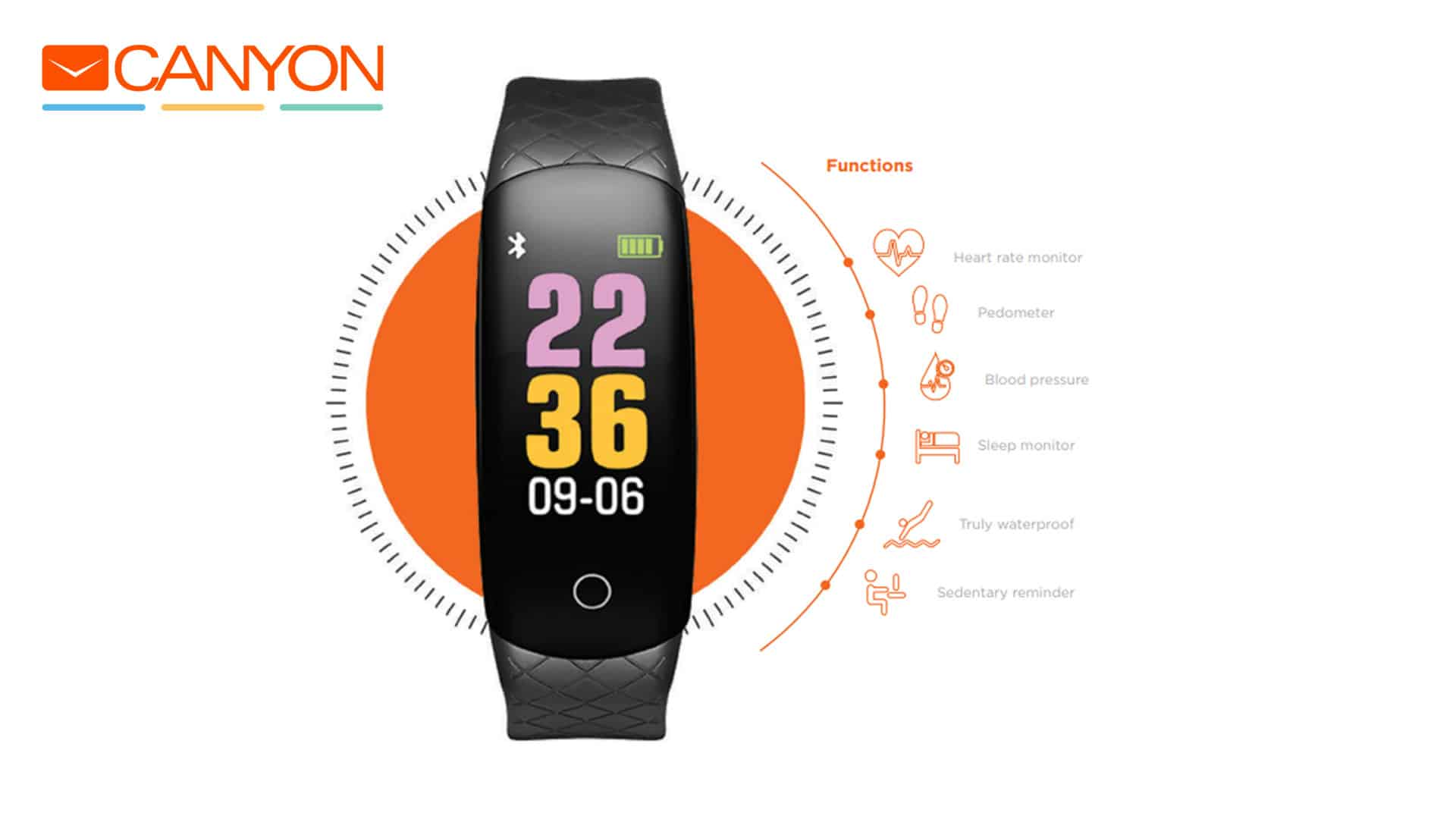 Canyon Basic Fitness Band With Colourful Display