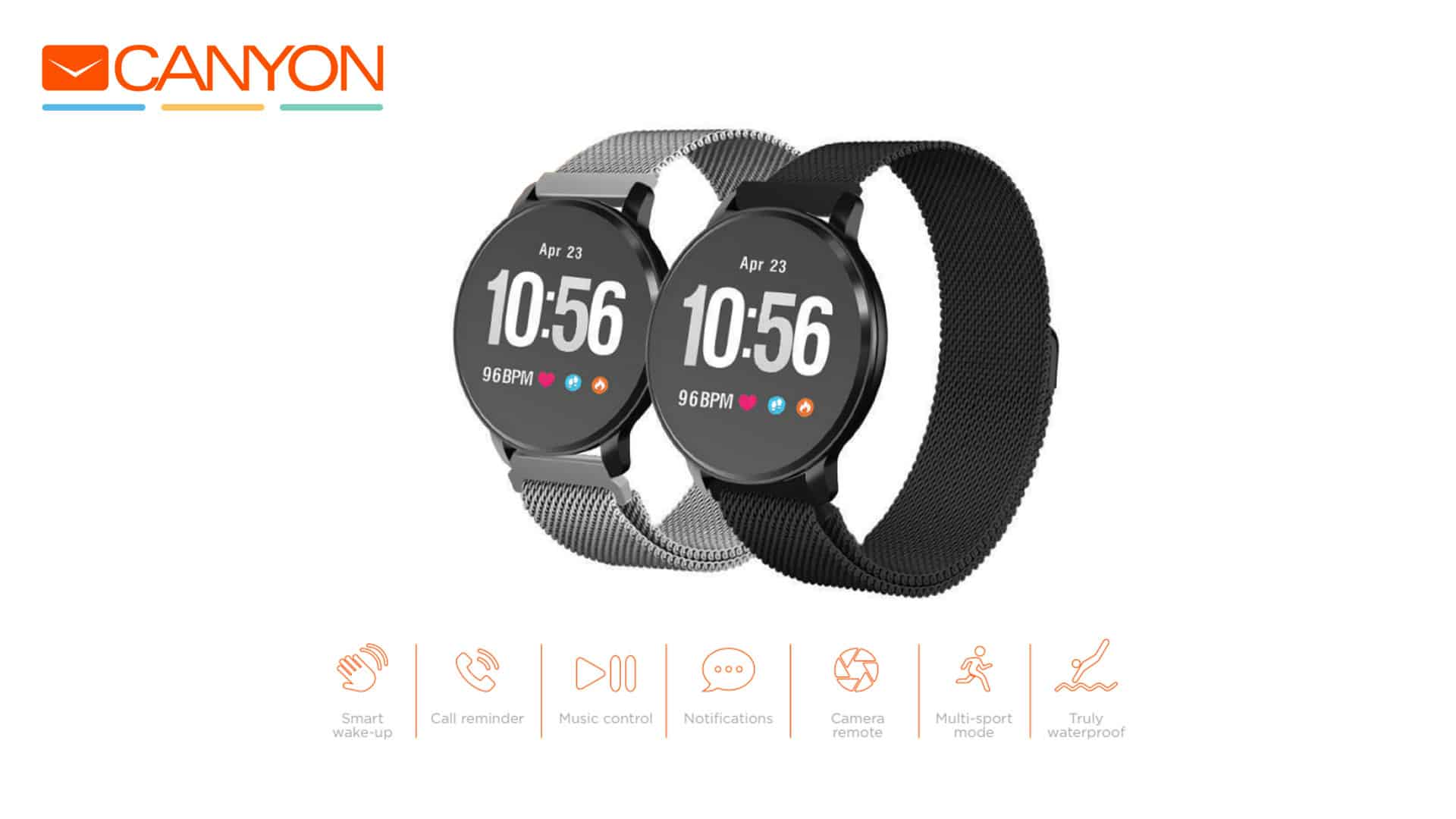 Canyon Stylish Smartwatch With Magnet Buckle