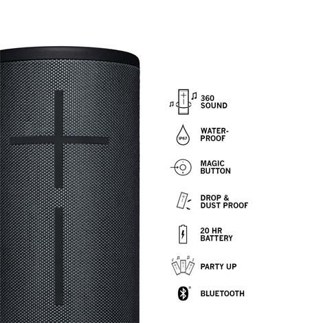 Ultimate Ears MEGABOOM 3 Night Black Bluetooth Speaker
