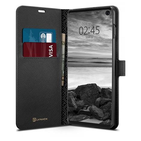 Spigen Galaxy S10 Case La Manon Wallet