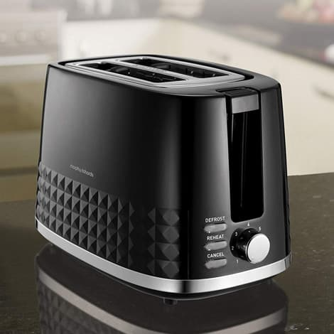 Morphy Richards Dimensions Black 2 Slice Toaster