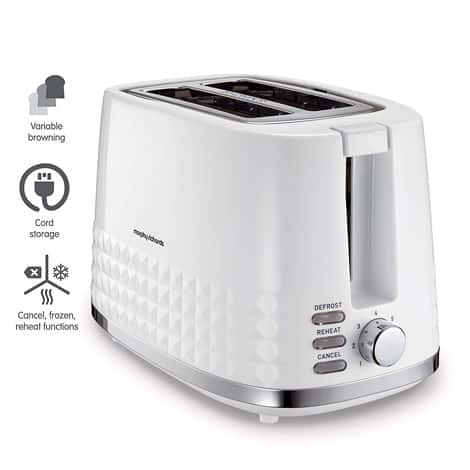 Morphy Richards Dimensions White 2 Slice Toaster