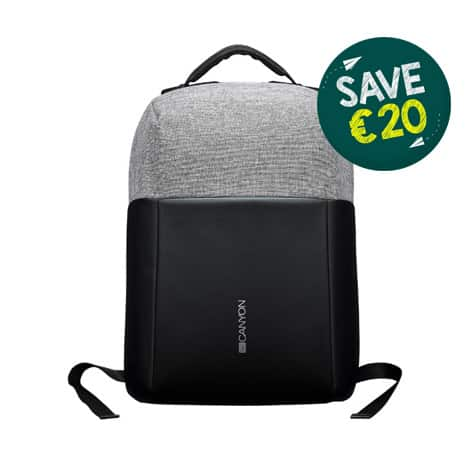Canyon Anti-theft backpack for 15.6 laptop Black & Grey Back To School Offer