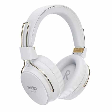 Sudio Klar II White Wireless Bluetooth Headphones - Active Noise Cancelling