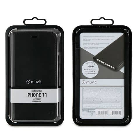 Muvit iPhone 11 Folio Case Stand Black