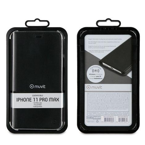 Muvit iPhone 11 PRO Max Folio Case Stand Black