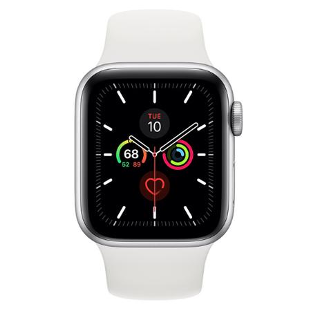 Apple Watch Series 5 GPS 40mm Aluminium Silver Sport Band White