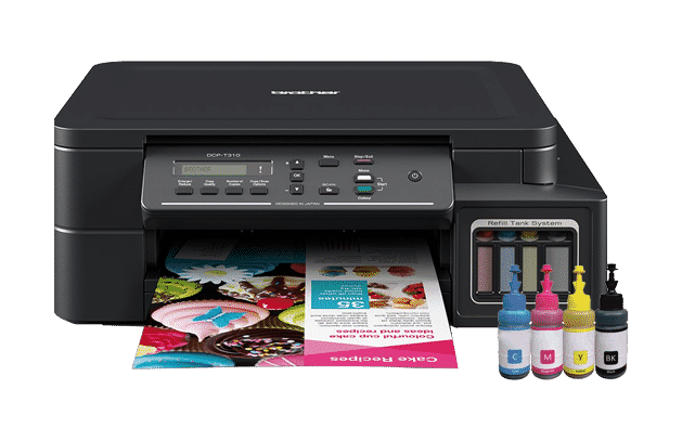 Brother DCPT310 Colour All in One- Refill Tank System Printer