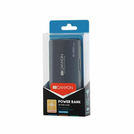 Canyon Power Bank 3-in-1 USB Cable 10,000 mAh Black