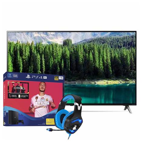 LG 65″ 65SM8500PLA | PlayStation 4 Pro 1TB FIFA 20 Standard Edition | Free SOG Elite H40 Gaming Headset Bundle