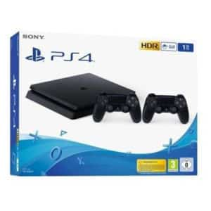PlayStation 4 Slim 1TB (PS4) + 2 Controllers