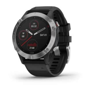 Garmin Fenix 6 Silver With Black Band