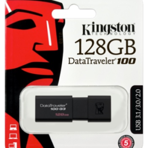 Kingston Technology DataTraveler 100 G3 128GB USB Flash Drive with Sliding Cap