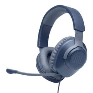 JBL Quantum 100 - Wired Over-Ear Gaming Headphones - Blue