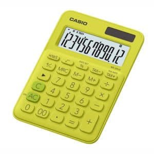 Casio Calculator Lime MS-20UC-YG
