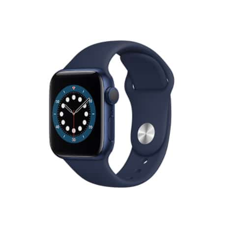 Apple Watch Series 6 GPS 44mm Blue Aluminium Case with Deep Navy Sport Band
