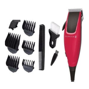 Remington Apprentice Corded Red Hair Clipper/Cutter 10Pc