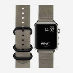 WsC NATO Apple Watch Strap | Mountain Grey | 40mm